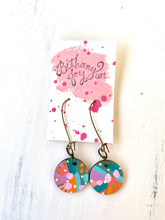 Load image into Gallery viewer, Colorful, Hand Painted Earrings 111