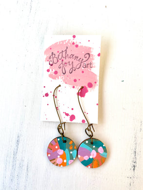 Colorful, Hand Painted Earrings 111