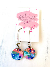 Load image into Gallery viewer, Colorful, Hand Painted Earrings 100
