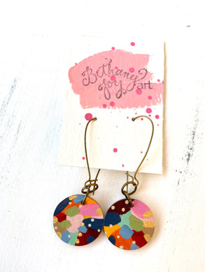 Colorful, Hand Painted Earrings 140
