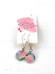 Colorful, Hand Painted Earrings 149