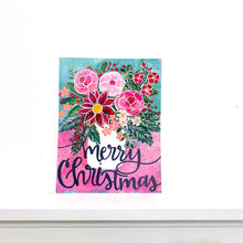 Load image into Gallery viewer, Merry Christmas Floral 8.5x11 inch holiday art print