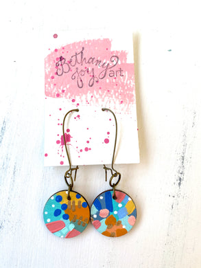 Colorful, Hand Painted Earrings 113