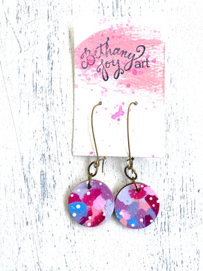 Colorful, Hand Painted Earrings 42 - Bethany Joy Art