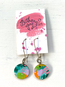 Colorful, Hand Painted Earrings 64