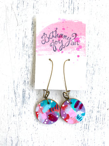 Colorful, Hand Painted Earrings 45 - Bethany Joy Art