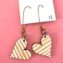 Load image into Gallery viewer, Colorful, Hand Painted, Heart Shaped Earrings 13