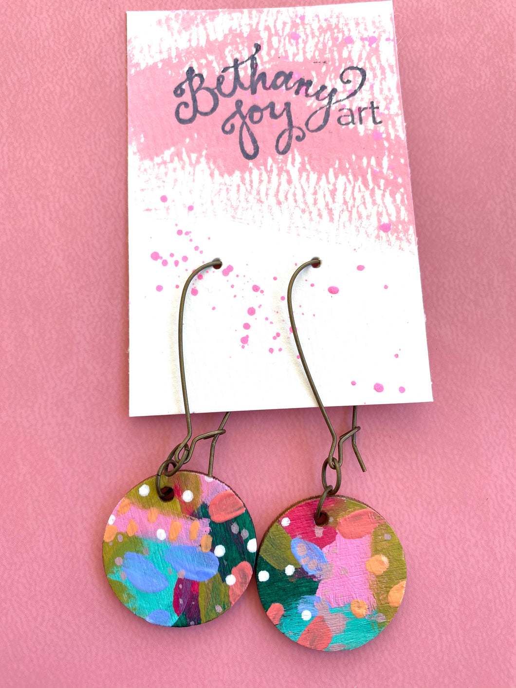 Colorful, Hand Painted Earrings 17 - Bethany Joy Art