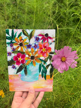 "Load image into Gallery viewer, August Daily Painting Day 23 ""Bouquet of Sunshine"" 5x7 inch Floral Original - Bethany Joy Art"