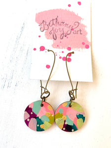 Colorful, Hand Painted Earrings 133