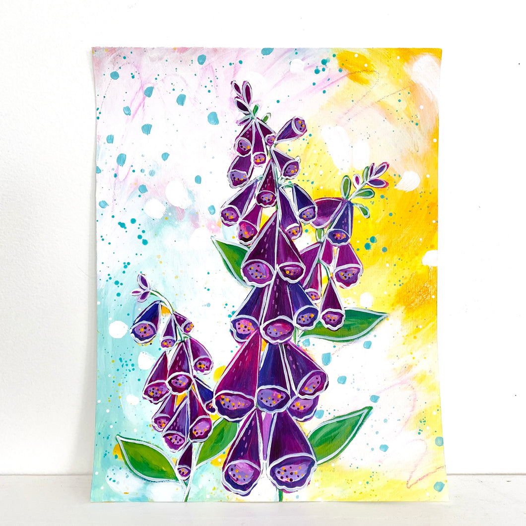 Foxgloves 8.5x11 inch art print