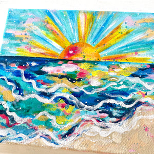 """Shimmer Rays"" 8x10 inch original painting on canvas"