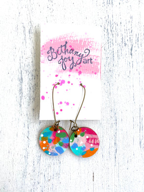 Colorful, Hand Painted Earrings 31 - Bethany Joy Art