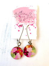 Load image into Gallery viewer, Colorful, Hand Painted Earrings 94