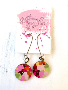 Colorful, Hand Painted Earrings 94