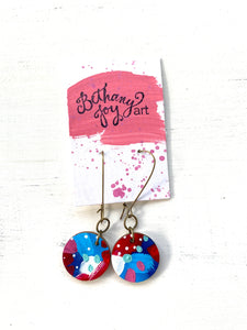 Colorful, Hand Painted Earrings 85