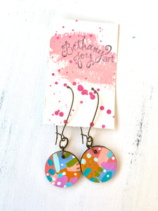 Colorful, Hand Painted Earrings 121