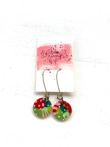 Colorful, Hand Painted Earrings 173