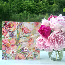 Load image into Gallery viewer, New Spring Floral Mixed Media Painting on 8x8 inch wood panel no.9 - Bethany Joy Art