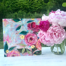 Load image into Gallery viewer, New Spring Floral Mixed Media Painting on 8x8 inch wood panel no.1 - Bethany Joy Art