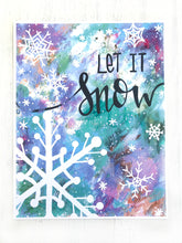"Load image into Gallery viewer, ""Let it Snow"" Christmas 8.5x11 inch Art Print Holiday Home Decor - Bethany Joy Art"