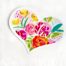 Load image into Gallery viewer, Love Sticker by Bethany Joy Art Floral Heart Vinyl Waterproof Sticker