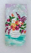 "Load image into Gallery viewer, ""Sweet Springtime"" Vase of Flowers Original Painting on 3x5 inch Wood Panel - Bethany Joy Art"