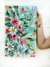 Load image into Gallery viewer, New Spring Floral Mixed Media Painting on 12.5x20 inch canvas no.2 - Bethany Joy Art