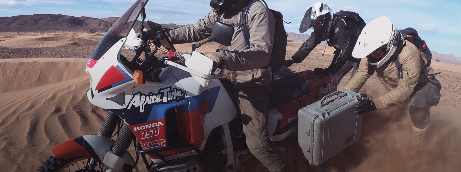 Riding With The Honda Revival Team Quad LockR USA