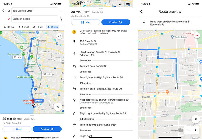 iOS Google Maps screenshots