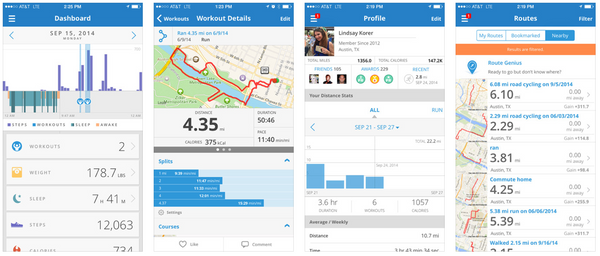 mapmyrun running app features