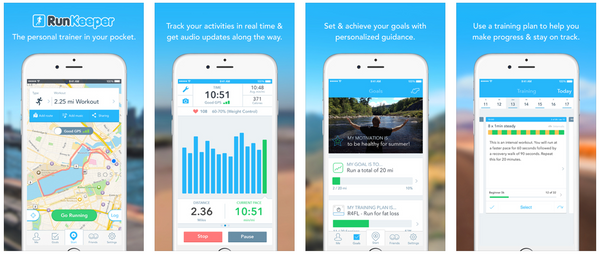RunKeeper Running app features