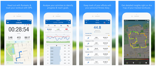 Runtastic running app features