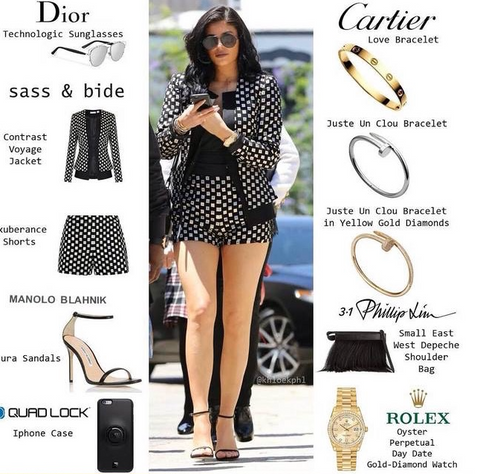 Kylie Jenner fashion blog Quad Lock
