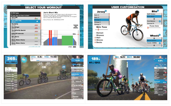 using Zwift with Quad Lock for training