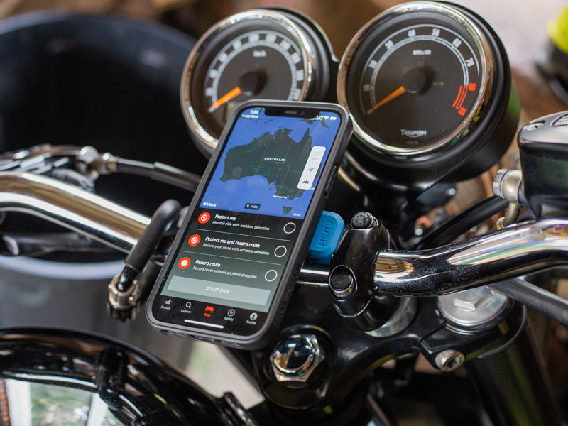 triumph sos safety app for motorcyclists