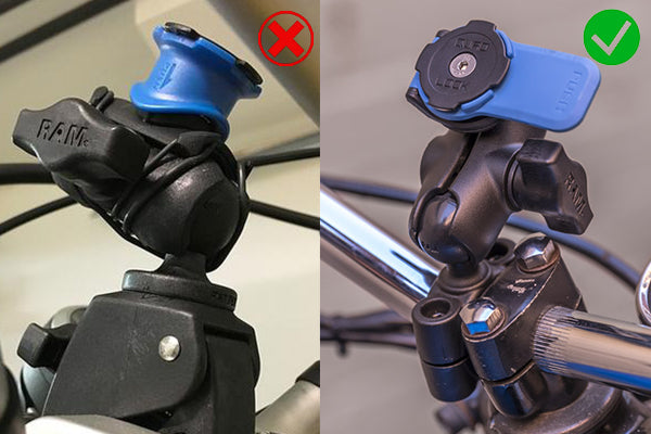 "no more custom installs with the Quad Lock 1"" Ball Adaptor Ram Mount for Motorcycles"