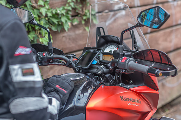 Handlebar Mount on Kawasaki Motorcycle dash