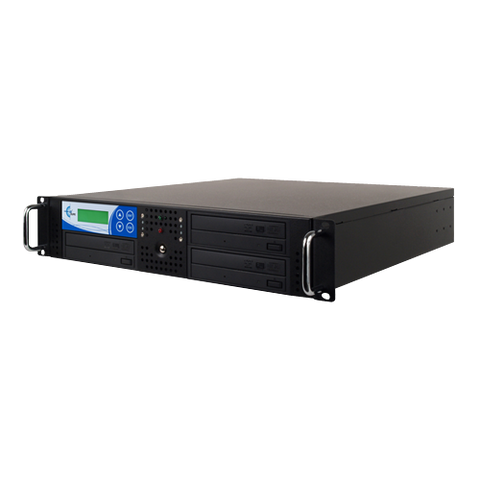 Rack Mount 3-Copy 24x DVD/CD Duplicator Black With 500GB (RK3TDVDB)