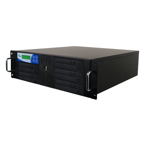 Rack Mount 5-Copy 24x DVD/CD Duplicator Black With 500GB (RK5TDVDB)