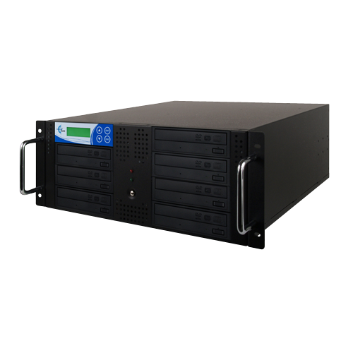 Rack Mount 7-Copy 24x DVD/CD Duplicator Black With 500GB (RK7TDVDB)