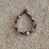 Bohemian ancient African trade beads bracelet