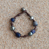Bohemian bracelet,  Ancient African trading beads