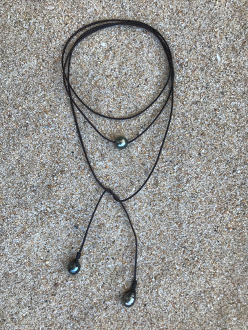 Alice Drop Tahitian Pearl Necklace.
