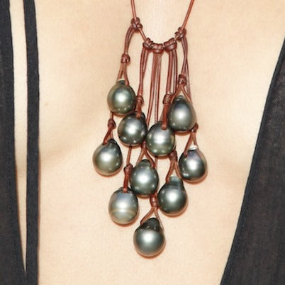 Oceana necklace featuring rare Tahitian Pearls