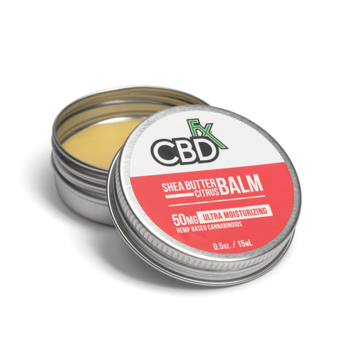 CBD Mini Balm – Shea Butter Citrus - Best CBD Hemp skin care