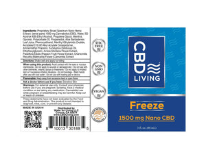 CBD Living Freeze Roll On - 1500mg