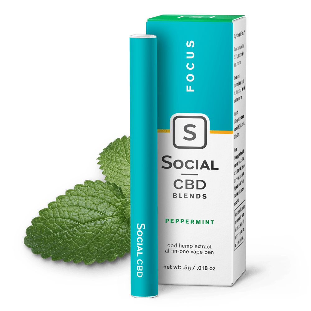 Social CBD Focus | Peppermint Vape Pen
