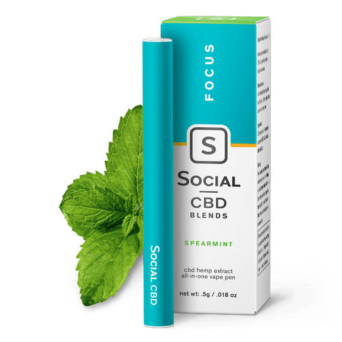 Social CBD Focus | Spearmint Vape Pen
