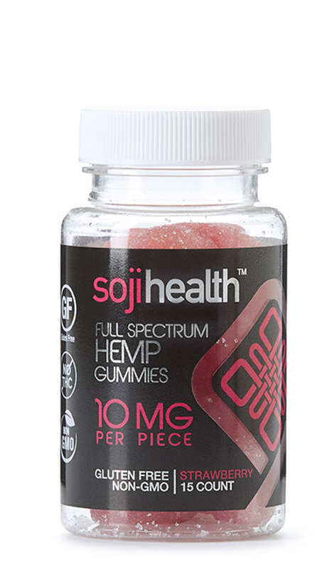 Soji Hemp CBD Gummies - Strawberry